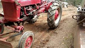 Farmall Cub Tractor - Using Front Scrape Blade 2017