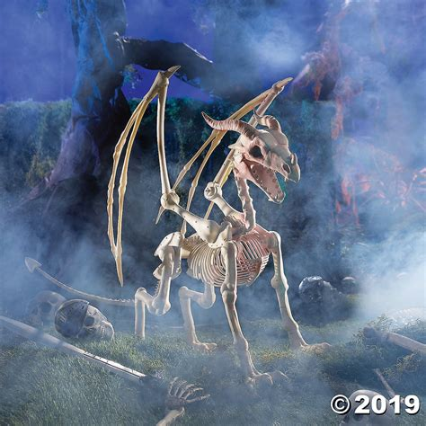 halloween dragon skeleton oriental trading halloween decorations  popsugar family photo