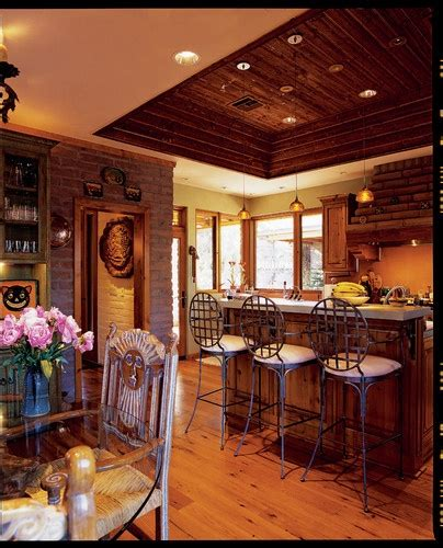lighting for kitchens ideas southwestern style log cabin design pictures remodel 7041
