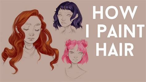 How To Shade Hair by Digital Hair Painting Tutorial