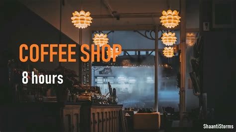 It includes a lot of background chatting and could possibly be used for other public situations too. Rainy Day at the Coffee Shop Ambiance - 8 Hours of Rain, background chatter and Jazz Music - YouTube