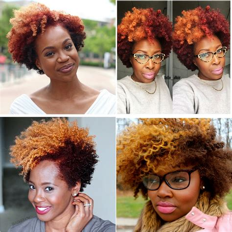 Natural Hair Color Inspo The Red Blonde Combo Tobnatural