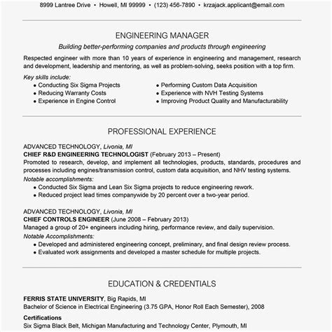 Engineering Resume Summary by Engineer Resume Exle And Writing Tips