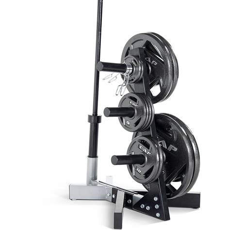 cap barbell   olympic plate tree storage rack academy