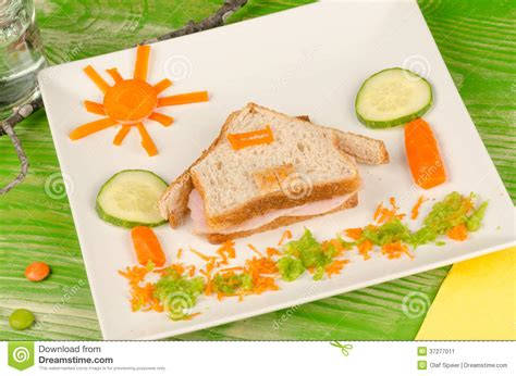 creation cuisine sandwich for stock image image 37277011