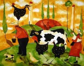Hubbs Folk Art Whimsical Farm Animals