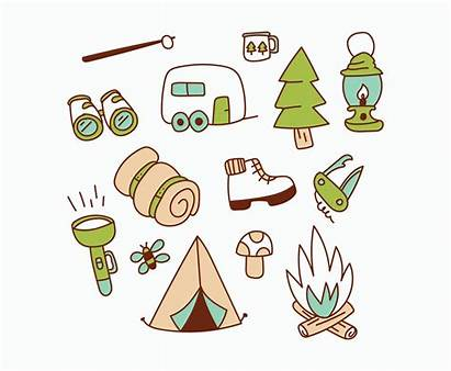 Camping Doodles Supply Doodle Freevector Supplies Graphics