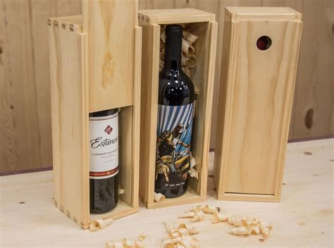 wine box  finger joints wooden wine