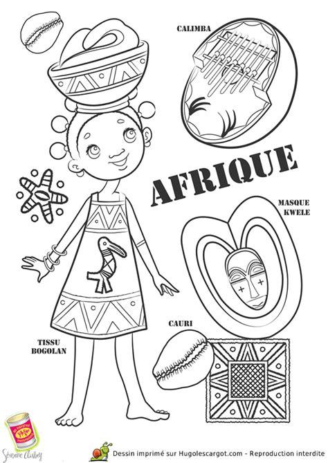 masque rituel à tête de fils des histoires coloriage pays afrique