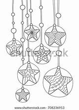 Wind Coloring Chimes Outlined Doodle Shutterstock Antistress sketch template