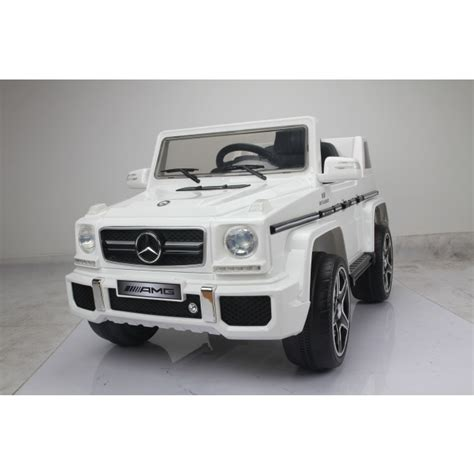 jeep mercedes white licensed white 12v mercedes g63 amg ride on jeep with