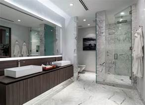 modern master bathroom with vessel sink high ceiling