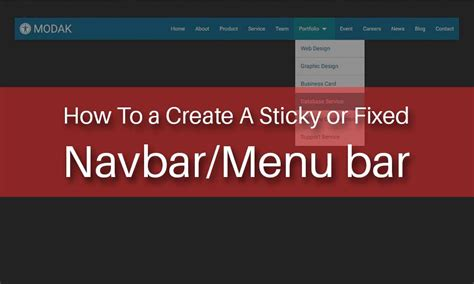 Sticky Top Bar by How To A Create Sticky Or Fixed Navbar Menu Bar Sanjay