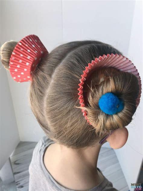 crazy hair day ideas girls cupcake hairdo alivia