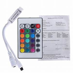 24 Key Mini Ir Remote Controller For 3528 5050 Rgb Led