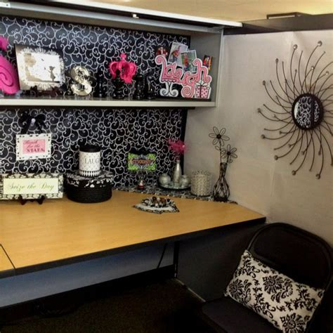 cubicle makeover ideas  pinterest work