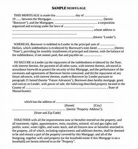 mortgage agreement template emsecinfo With land document loan