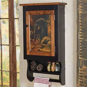 bear creek richmond wall cabinet With kitchen cabinets lowes with black bear wall art