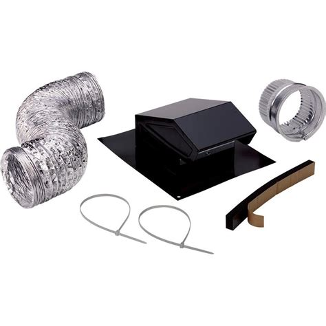 install bathroom vent no attic access shop broan metal roof vent kit at lowes