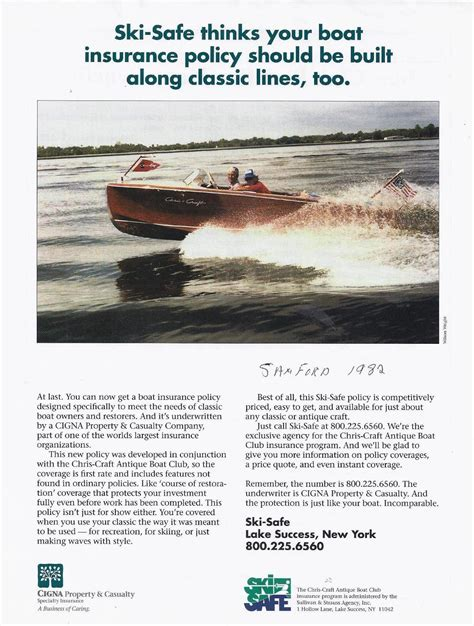 Ski Safe Boat Insurance by The They Call Mr B A Snapshot Story Classic