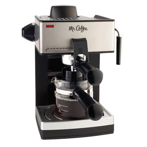 espresso and coffee maker mr coffee 174 steam espresso and cappuccino maker ecm160 rb mr coffee