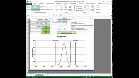 cpk cp excel chart cpk calculation template youtube