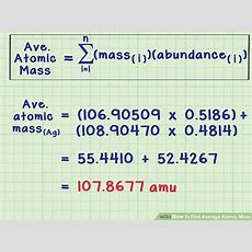 How To Find Average Atomic Mass 8 Steps (with Pictures) Wikihow