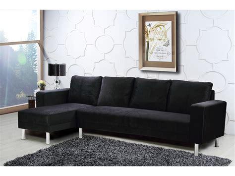 canapé d angle habitat canapé d 39 angle tissu réversible quot quot 5 places noir