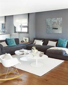 Salon Gris Bleu : d co salon un duplex en gris bleu et bois sonia saelens d co leading ~ Melissatoandfro.com Idées de Décoration