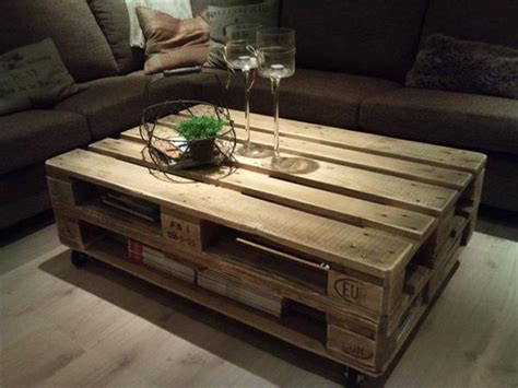 coffee table made out of pallet wood easy way to make pallet coffee tables for your home