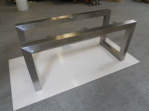 Pieds De Table : pied de table inox fabrication pour un particulier d 39 un pied de table sur mesure en inox bross ~ Teatrodelosmanantiales.com Idées de Décoration