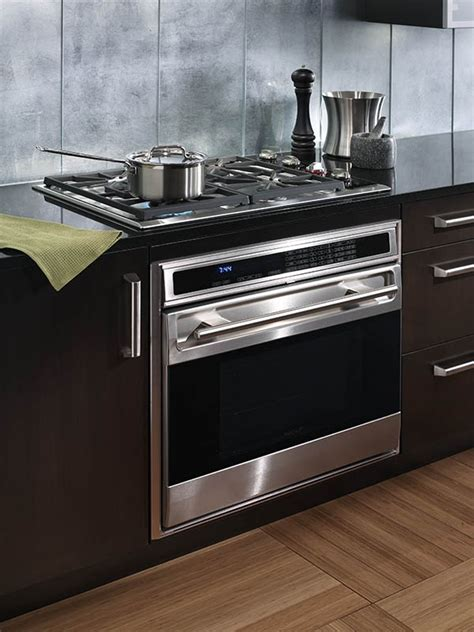 gas stovetop  built  oven kitchen remodel small wall oven gas stove  oven
