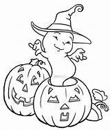 Coloring Ghost Pages Halloween Popular sketch template