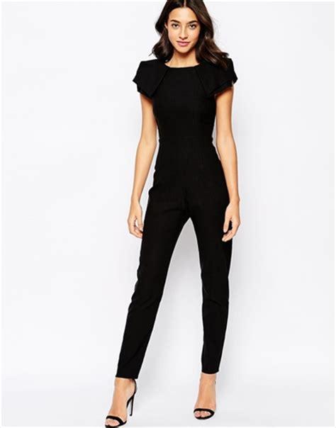 black sleeve jumpsuit vesper jumpsuit with origami sleeve black nuji