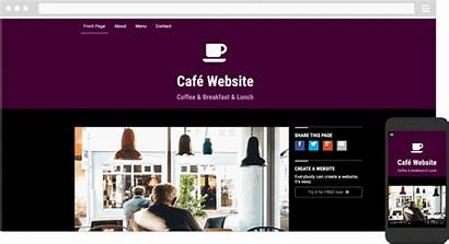 Website Simplesite Themes Template Cafe Examples