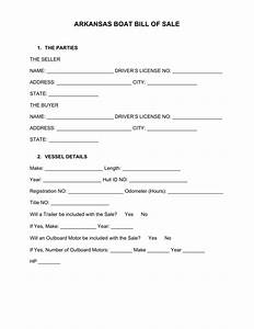 boat partnership agreement template - free arkansas boat bill of sale form word pdf eforms