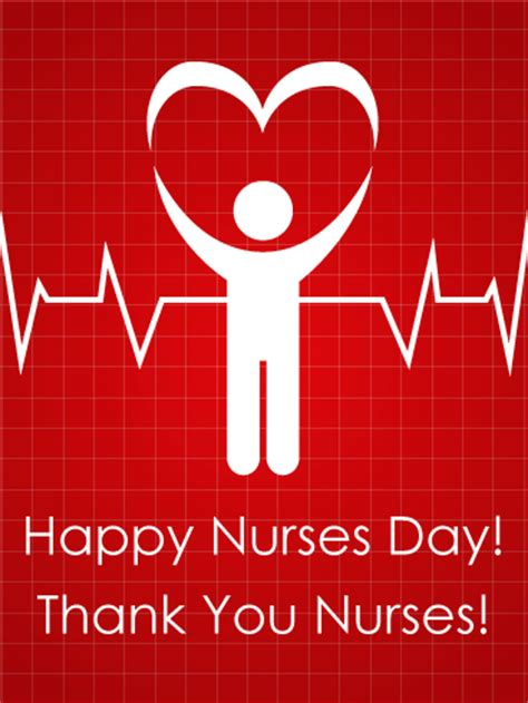 nurses day heart beat card birthday greeting cards davia