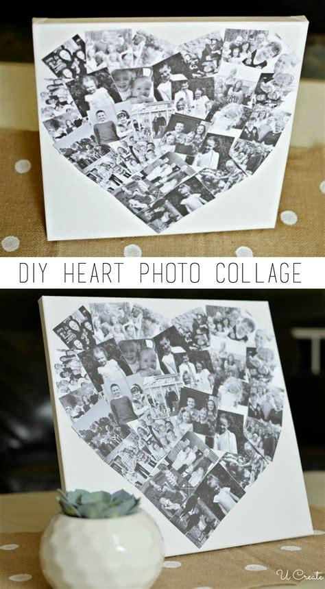 diy heart photo collage  create
