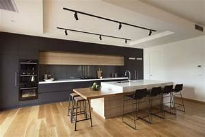 Cuisine Avec Parquet : cuisine contemporaine avec parquet clair ~ Melissatoandfro.com Idées de Décoration
