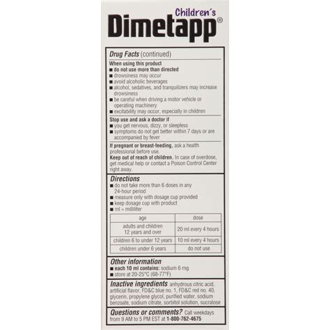 Adult Dimetapp