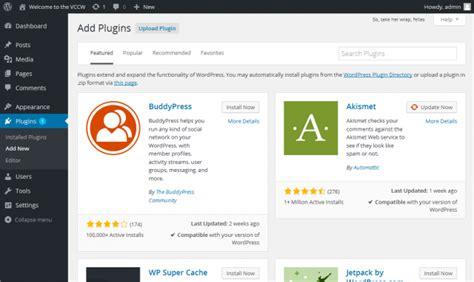 Plugins Add New Screen « Wordpress Codex