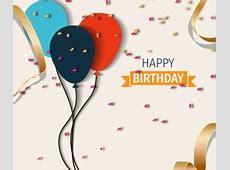 Elegant Happy Birthday balloon background vector 04