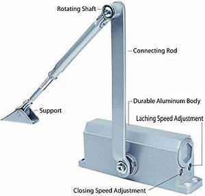 Automatic Door Closer With Hydraulic Hinge