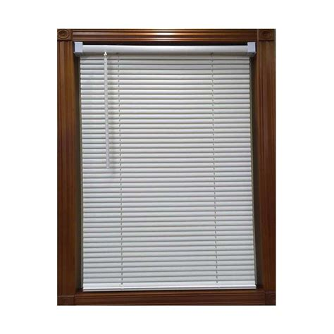 Mini Blinds by White 1 In Room Darkening Aluminum Mini Blind 56 In W