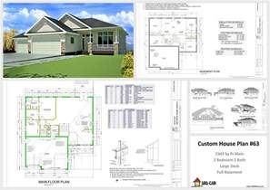 custom home floor plans free house and cabin plans plan 63 1541 sq ft custom home design dwg and pdf
