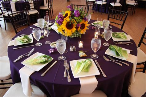 purple and black table settings the cuvier club