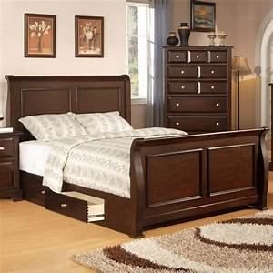 Bedroom Enrich Your Home Decor With Queen Sleigh Bed