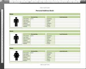 microsoft excel address book template