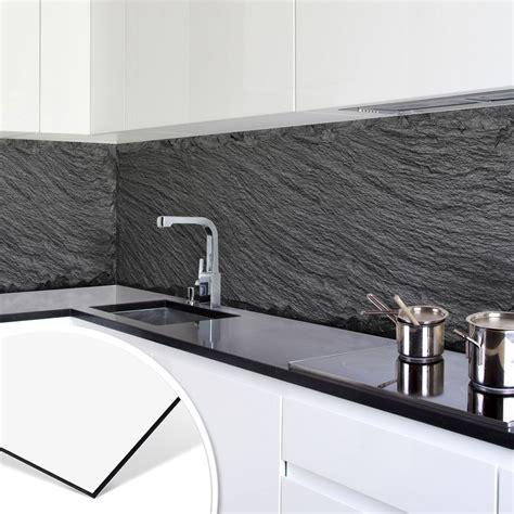 Küchen Fliesenspiegel Verkleiden by K 252 Chenr 252 Ckwand Alu Dibond Schiefer Design 02 In 2019