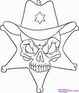Coloring Sheriff Skulls Popular Skull Pop Draw Coloringhome Step sketch template
